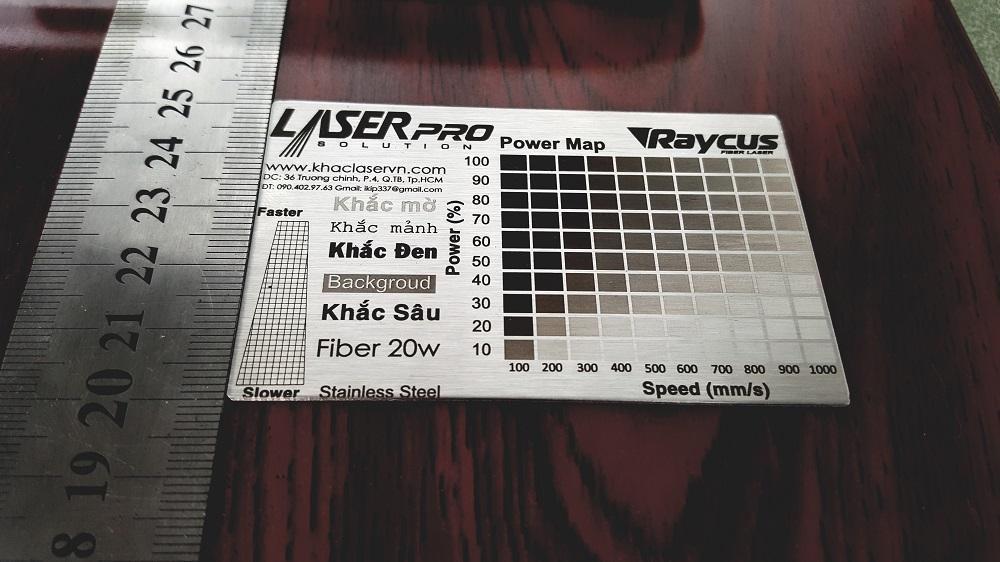 Khắc laser trên inox, Raycus 20w
