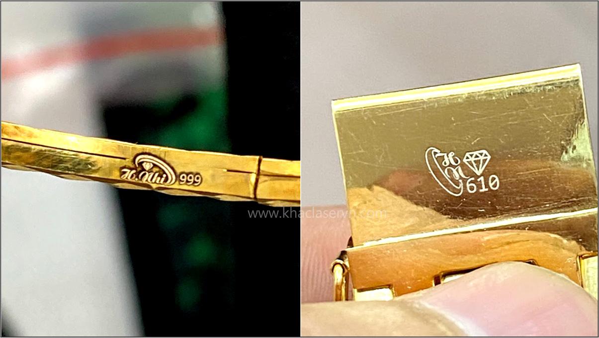 Máy khắc laser trên vàng