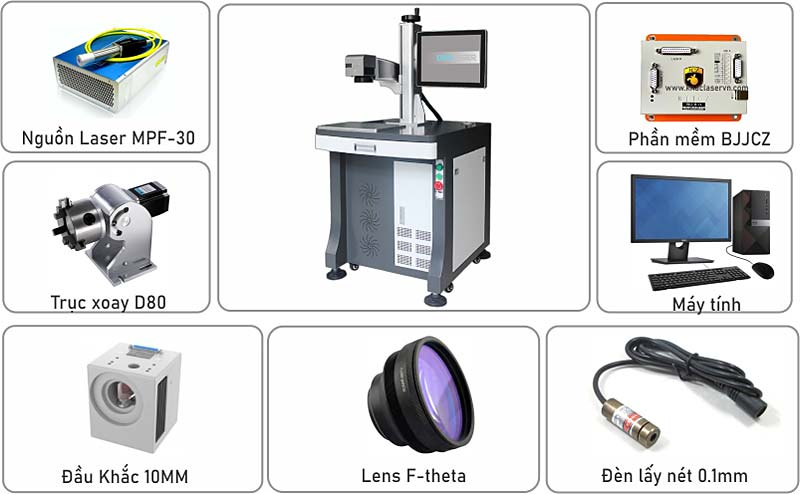 Máy laser fiber 30w