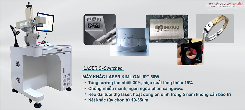 Máy khắc laser fiber 50W JPT