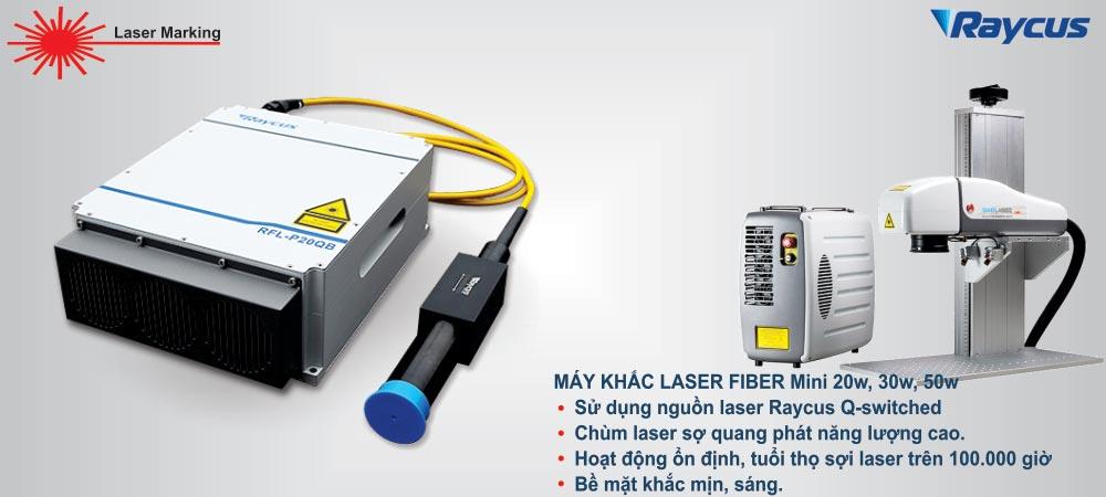 mẫu máy khắc laser fiber kim loại mini giá rẻ
