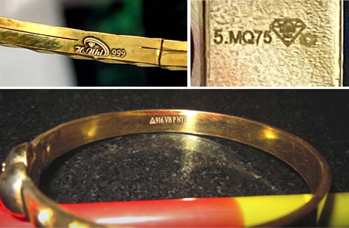 Máy khắc laser khắc chữ trên vàng.